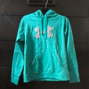 Turquoise and grey under armor sweater
